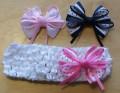 Elastische baby / kinder haarband met strik 1