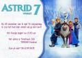 Frozen kinderfeestje uitnodiging met eigen naam (10, 15 of 20 st)