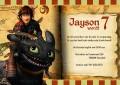Hoe tem je een draak kinderfeestje uitnodigingen met eigen naam (10, 15 of 20 st)