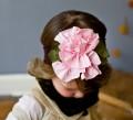 Bruine Haarband met bloemen - Choco Blossoms