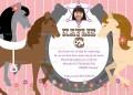 Paarden uitnodiging met eigen naam en foto (10, 15 of 20 st)