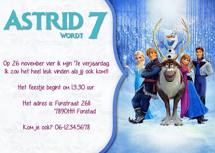 Frozen Kinderfeestje Uitnodiging Met Eigen Naam 10 15 Of 20 St